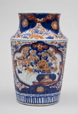 Imari Ribbed Open Vase, Circa 1860