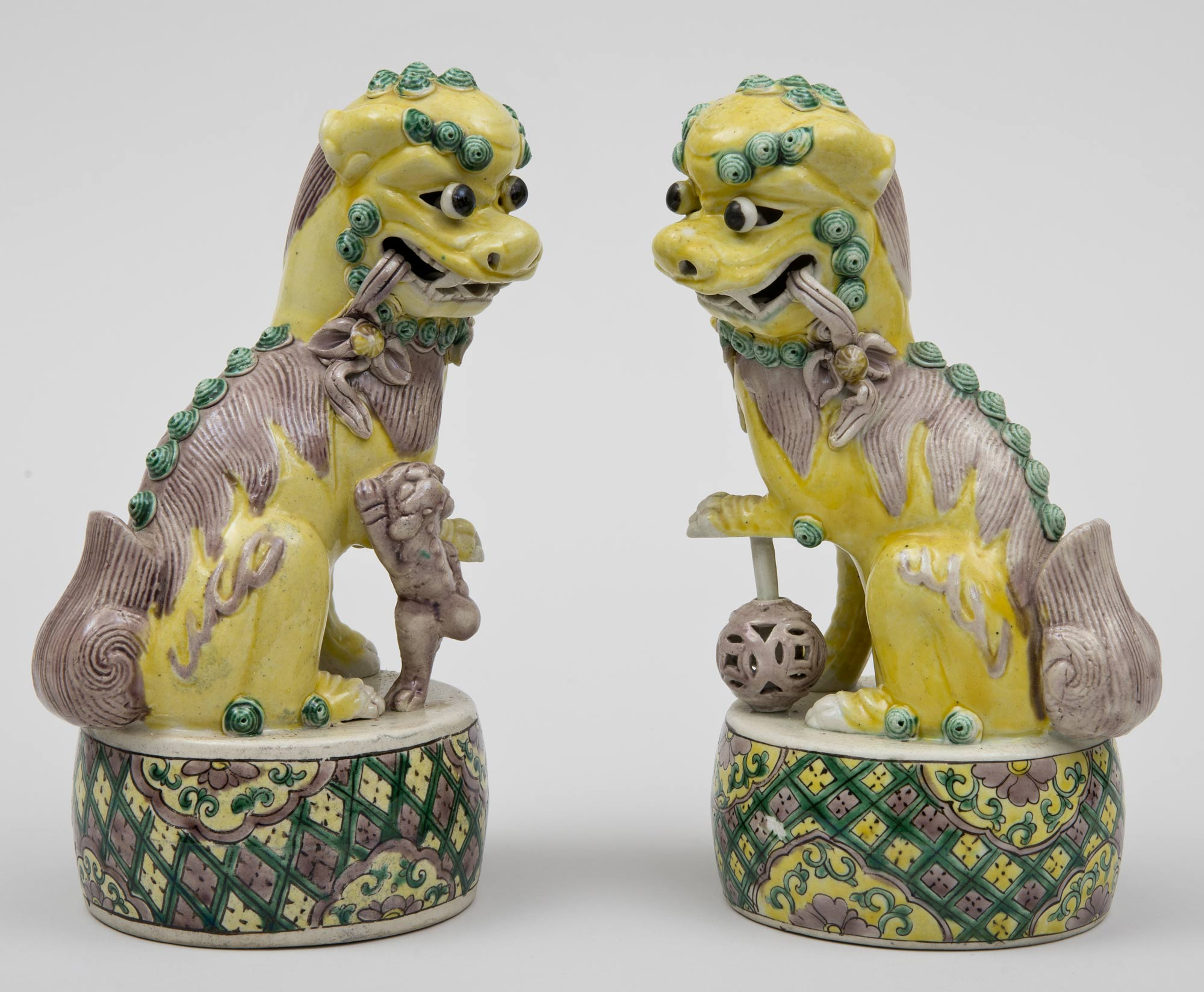 187 Product 187 Pair Chinese Yellow Foo Dogs