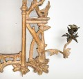 Chippendale Period Giltwood Girondole Pier Mirror
