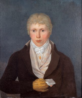 Oil on Canvas of Young Man