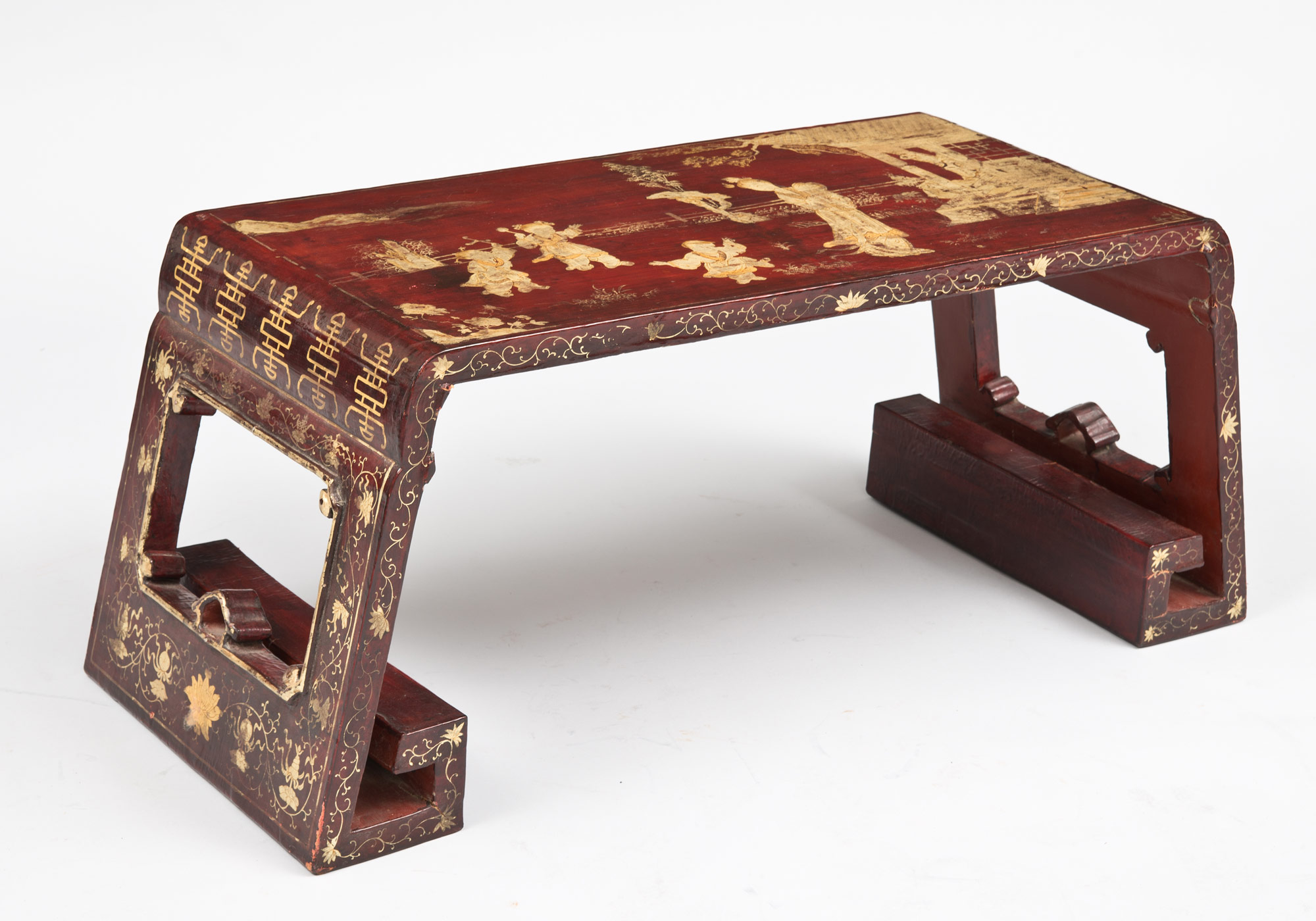 Antique Chinese Red Lacquer Low Table Antique Chinese Table