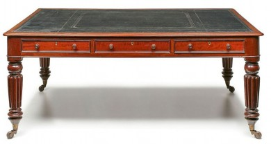 Regency Partners Writing Table, Circa 1825