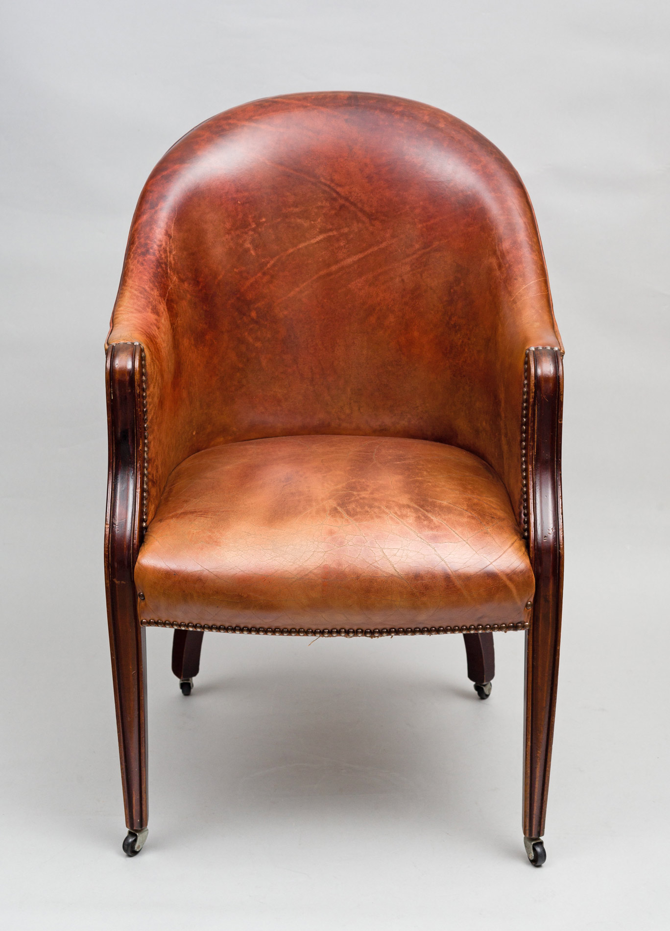 Edwardian Leather Tub Chair · Edwardian Leather Tub Chair ...