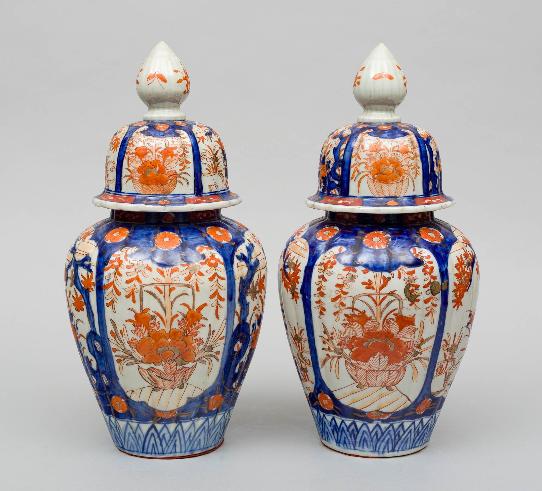 Pair of large imari vases with lids circa 1890 reviewsmspy