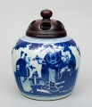 Chinese Porcelain Blue and White Squat Vase, Circa 1850