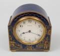 Blue Chinoiserie Desk Clock, Circa 1910