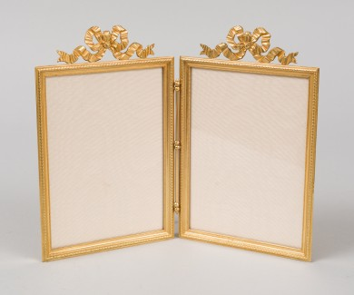 French Gilded Double Photo Frame