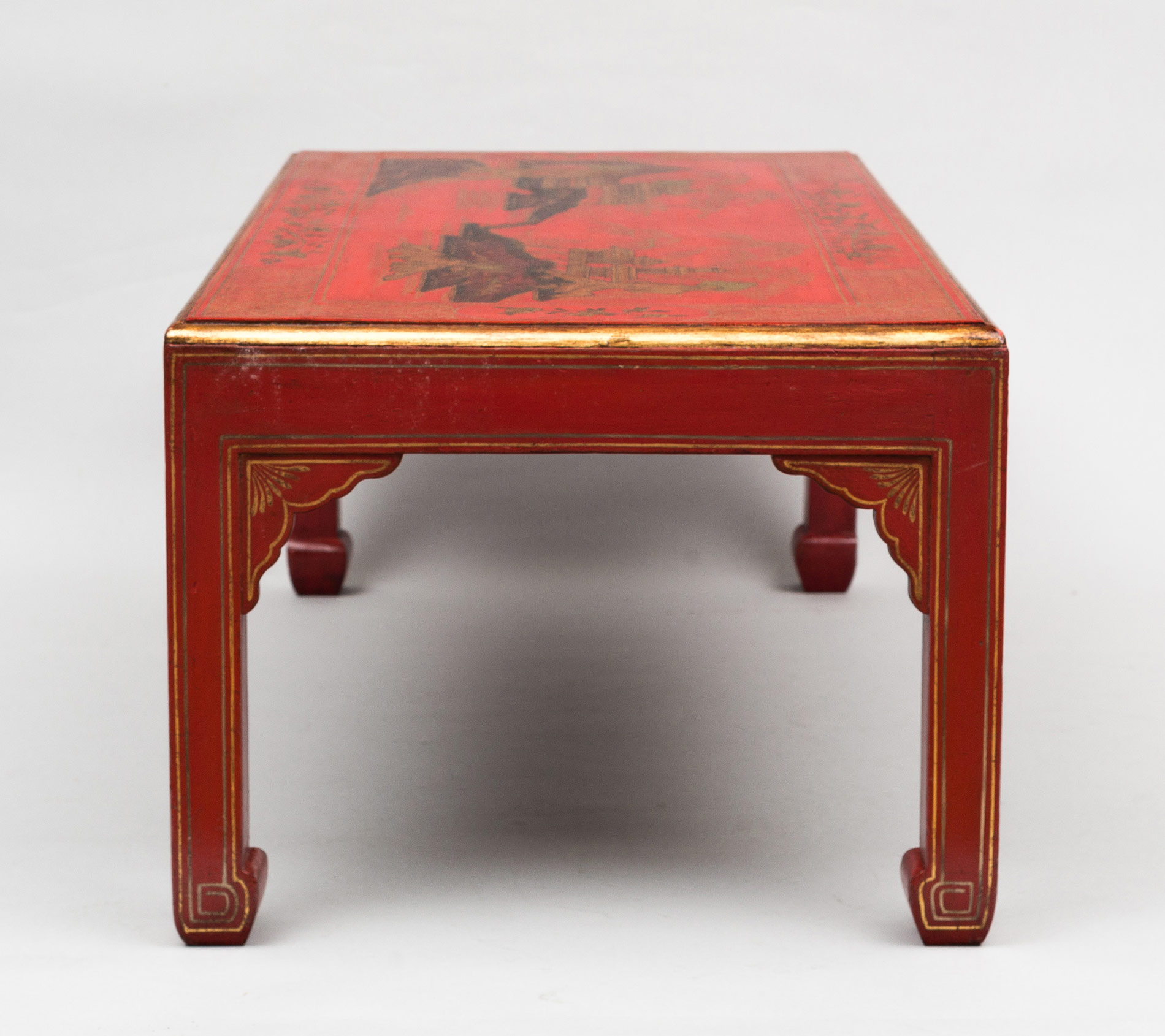 Black Coffee Table Sheffield: » Product » Chinoiserie Red Lacquered Coffee Table