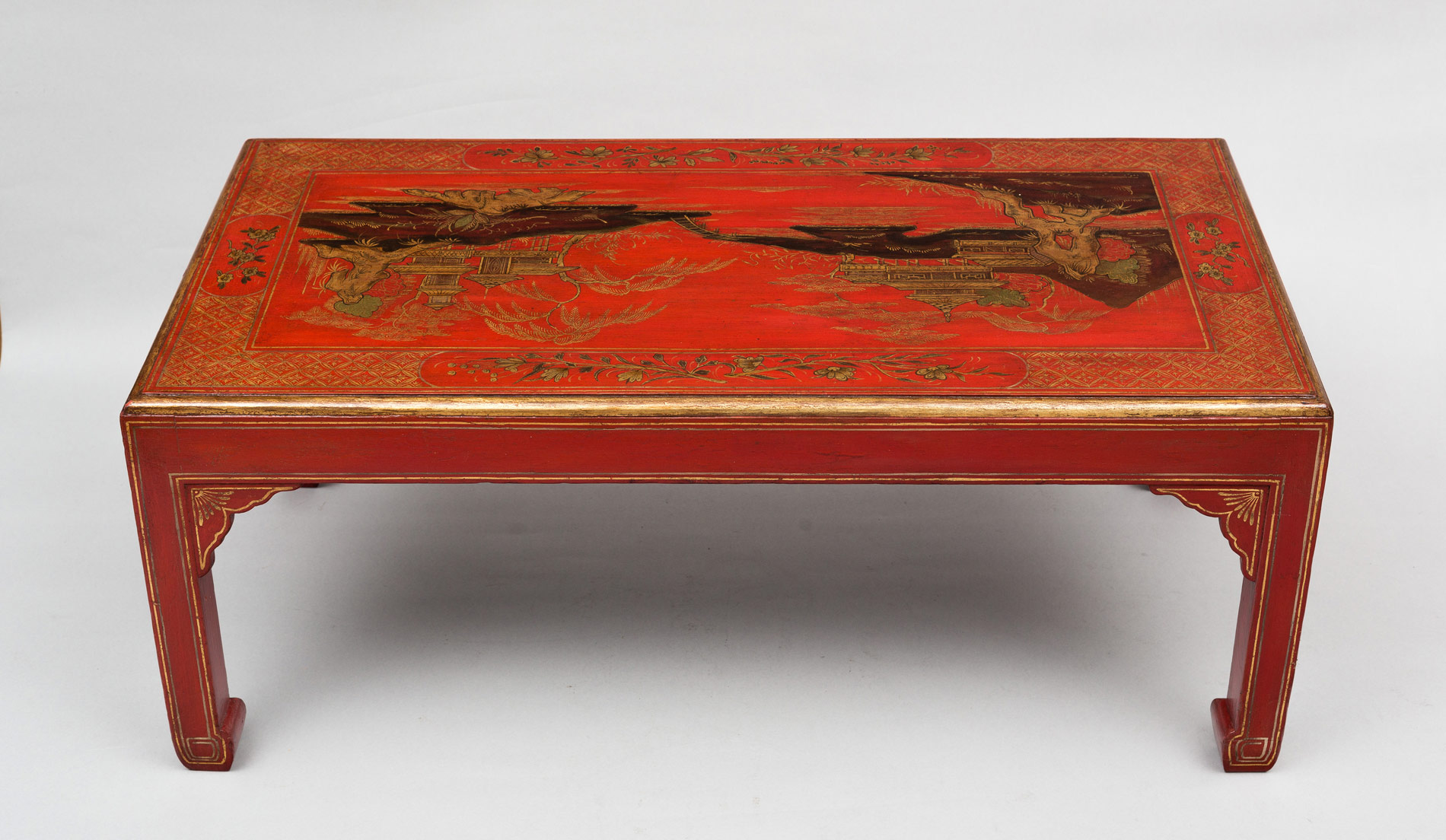 187 Product 187 Chinoiserie Red Lacquered Coffee Table