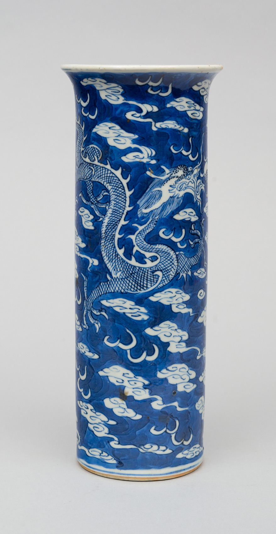 chinese blue and white vase circa 1870. Black Bedroom Furniture Sets. Home Design Ideas