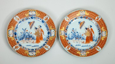 Pair Antique Chinese Imari Export