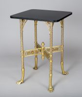 American Aesthetic Movement Brass Table