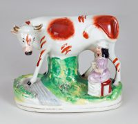 Staffordshire Cow and Milkmaid