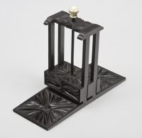Antique Carved Ebony Playing Card Press