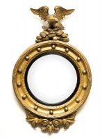 Antique Regency Convex Mirror