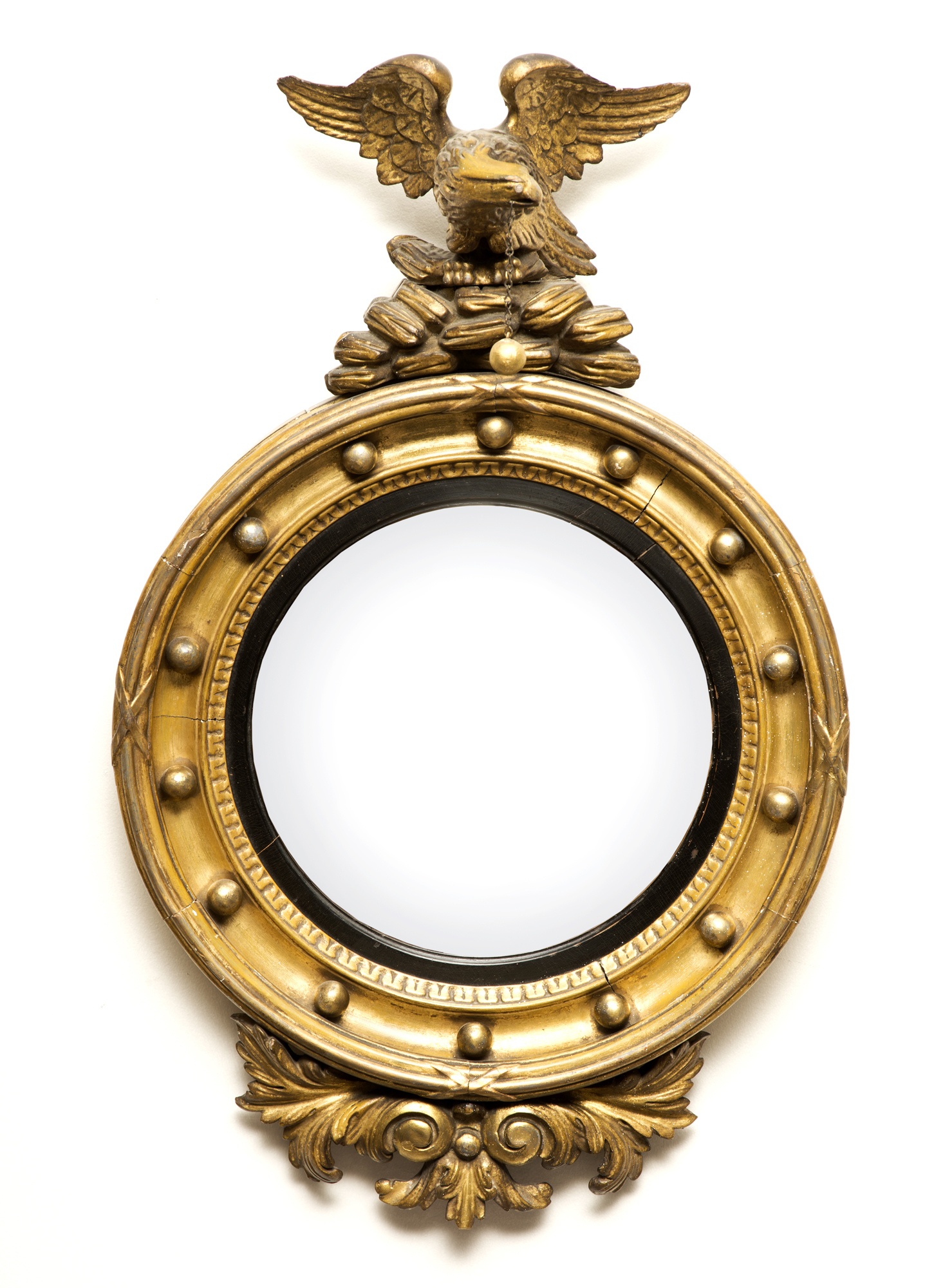 Antique Regency Convex Mirror Antique English Mirrors