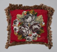 Antique Bead Work Cushion