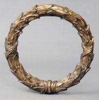 Antique Bronze Door Wreath, Circa 1820