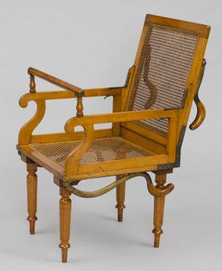 Antique Campaign Folding Armchair, Maker: J. Alderman, London, Circa 1870