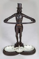 Cast Iron Stick or Umbrella Stand in the Form of a Footman