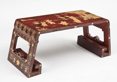 Red Lacquer Chinese Low Table