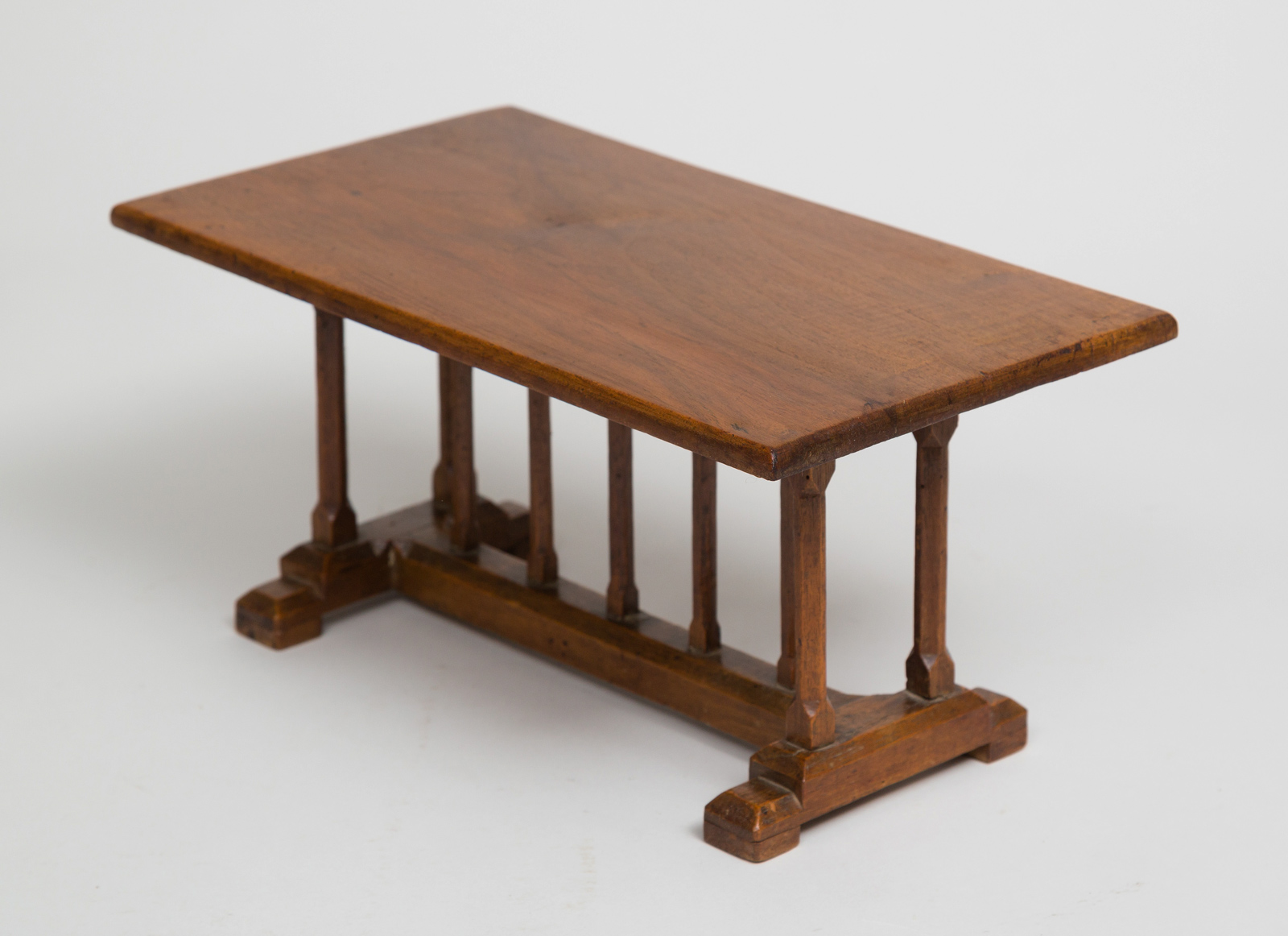 English miniature arts and crafts trestle table for Arts and craft tables