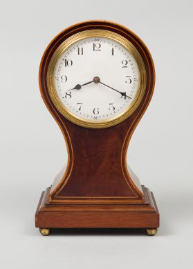 Balloon-Shaped Desk Clock, Circa 1900