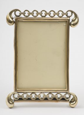 Antique English Brass Photo Frame, Circa 1900