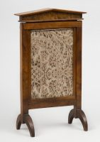 Antique English Elm & Walnut Table Screen or Photo Frame, Circa 1820