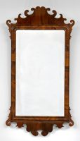 George III Walnut Fret Mirror