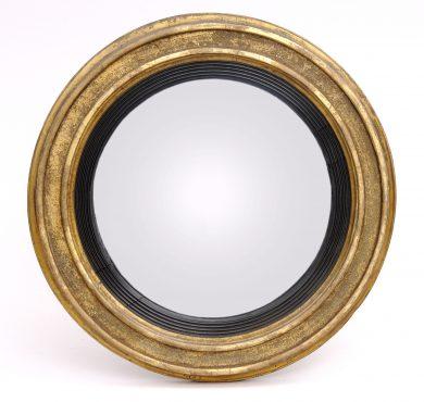 Antique English Georgian Convex Mirror