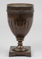 Mahogany Cutlery Urn, Circa 1890