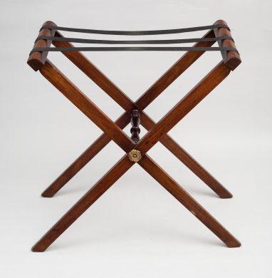 Antique English Mahogany Folding Tray Stand, Circa 1840