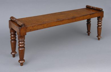 Antique English Miniature Hall Bench, Circa 1830
