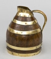 Antique Oak & Brass Coopered Jug, Circa 1880