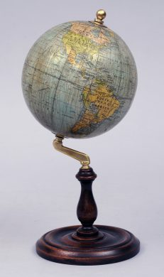 Antique English Philips Globe on Stand, Circa 1920'2