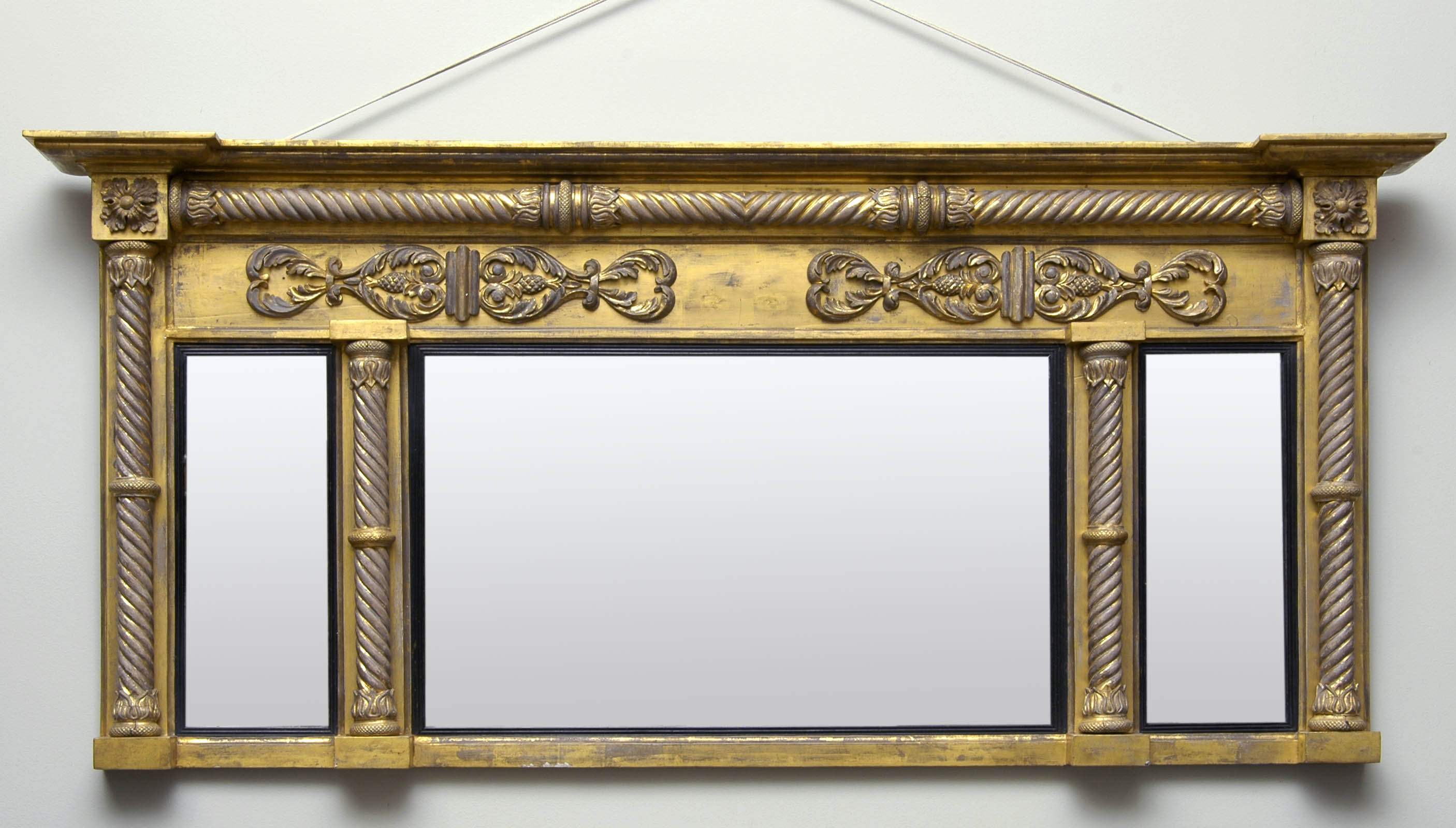 English regency giltwood antique overmantle mirror for Overmantle mirror