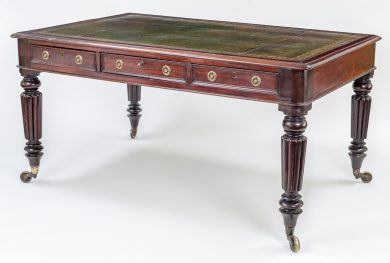 Antique Regency Partners Writing Table