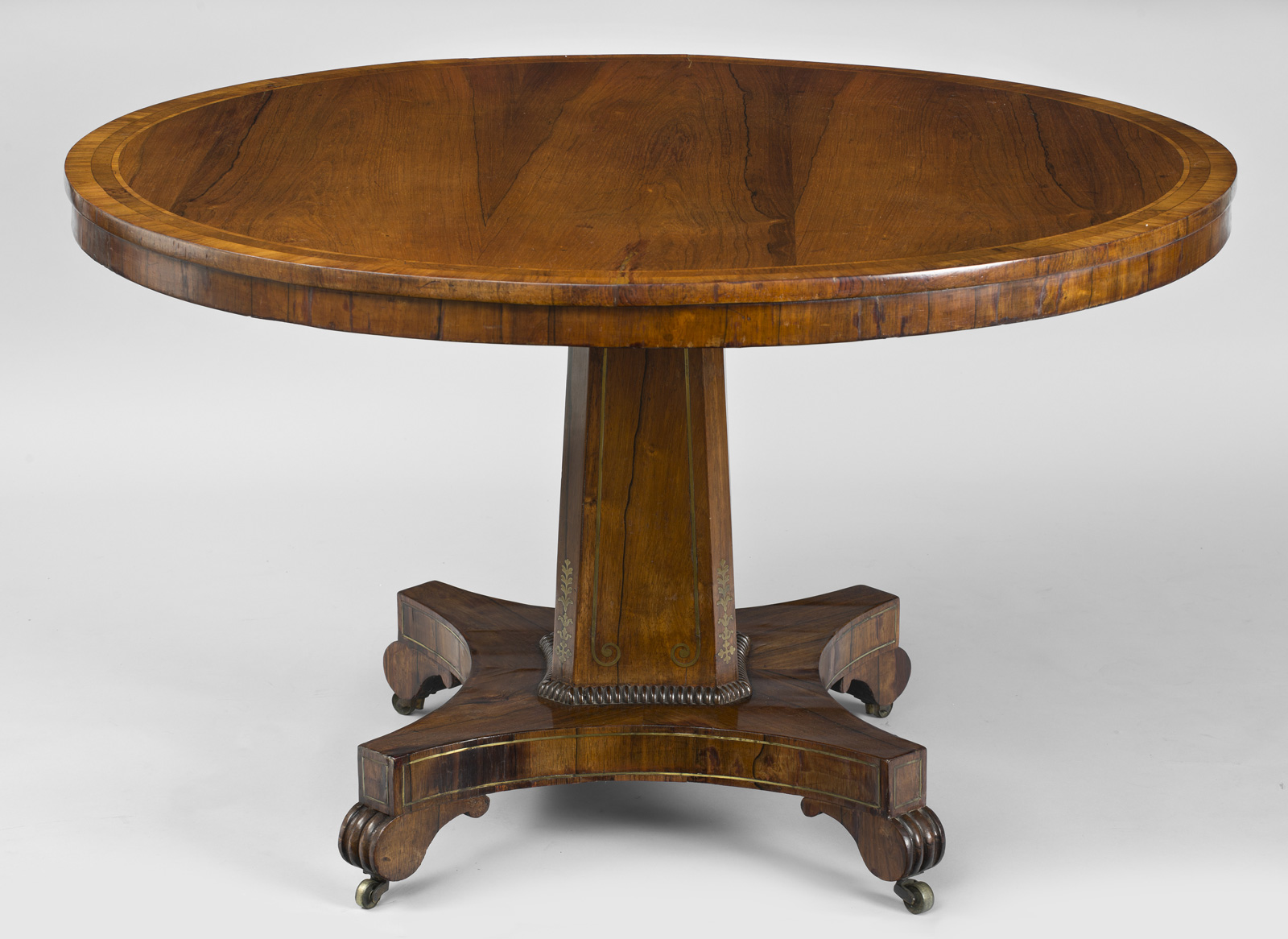 Charmant Antique English Regency Rosewood Center Table