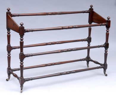 Antique William IV Linen or Blanket Rail, Circa 1840