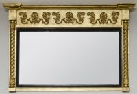 Antique English William IV Overmantle Mirror