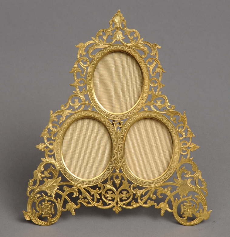 Antique French Gilded Triple Frame