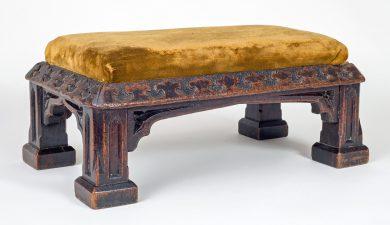 Antique Gothic Revival Oak Footstool