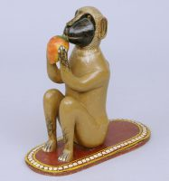 Indian Polychromed Carved Monkey, Circa 1870