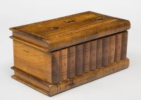 Antique Italian Grand Tour Olivewood Book Box