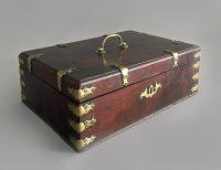 Antique Mahogany Brass-Mounted Deed Box