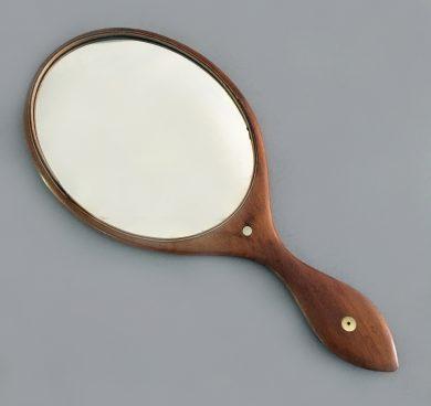 Antique Mahogany Hand Mirror