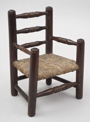 Antique Miniature Beech Arm Chair, Circa 1870