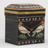 Painted Tole Tea Caddy, Circa 1820