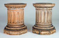 Antique Pair of Garden Terracotta Column Bases